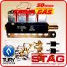 Bicos Injetores GNV 5ª geração Stag TURY Rampa 4